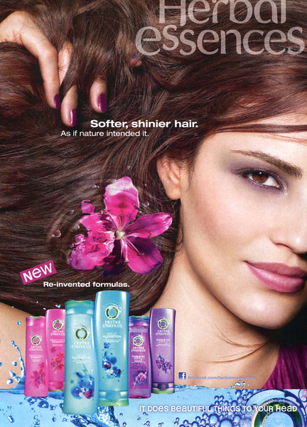 CLAIROL Herbal Essences haircare Diverse 2011 'Softer, shib¡nier hair - As if nature intended it - New - Re-invented formulas'