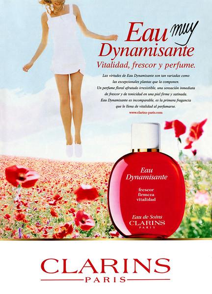 CLARINS Eau Dynamisante Eau de Soin (Fraîcheur - Fermeté - Vitalité) 1999 Spain 'Eau muy Dynamisante - Vitalidad, frescor y perfume'