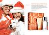 CLINIQUE Happy 2007 US (recto-verso with scent strip) 'Happy Holidays'