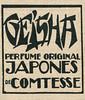 COMTESSE Geisha 1922 Spain (small format)'Perfume original japonés de Comtesse'