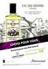 LE COUVENT DES MINIMES Eau des Minimes 2011 France (Marionnaud stores) <br /> 'Aux 3 agrume rafraîchissants et 7 plantes bienfaisantes 'Choisi pour vous ' Exclusivement chez Marionnaud '