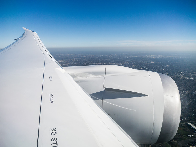 Wing View in the Air