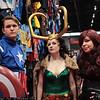 Captain America, Loki, and Black Widow