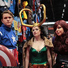 Captain America, Loki, and Black Widow