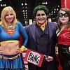 Supergirl, Joker, and Harley Quinn