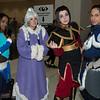Korra, Yue, Azula, and Sokka