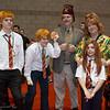 Fred Weasley, George Weasley, Arthur Weasley, Molly Weasley, and Ginny Weasley