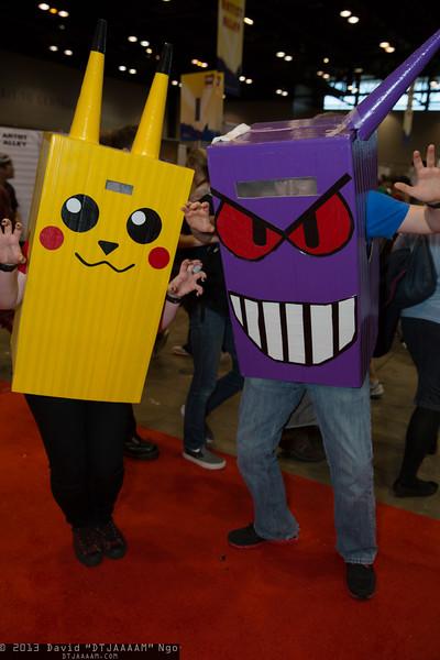 Pikachu and Gengar