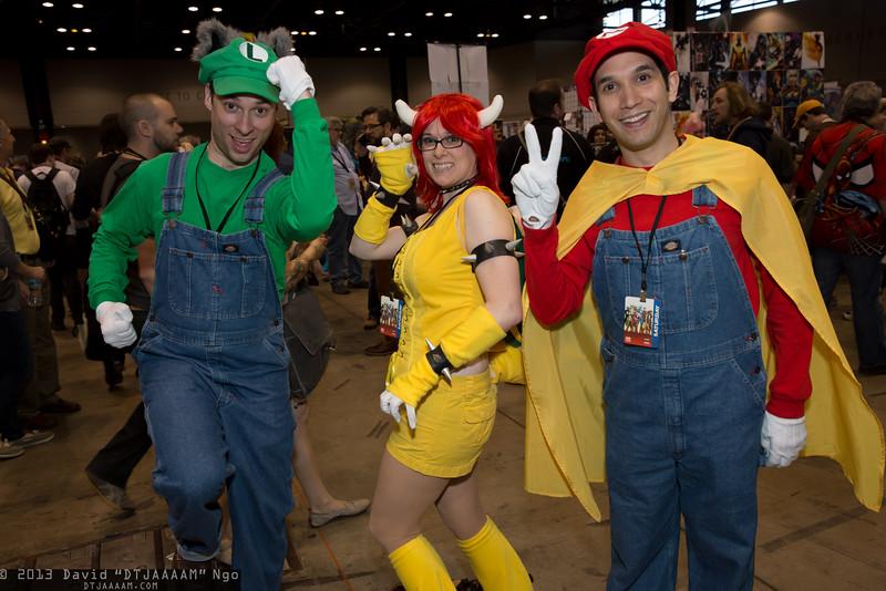 Luigi, Bowser, and Mario