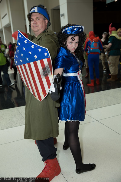 Captain America and American Maid