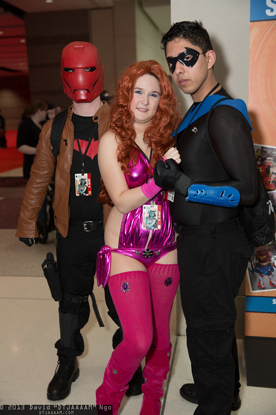 Red Hood, Starfire, and Nightwing