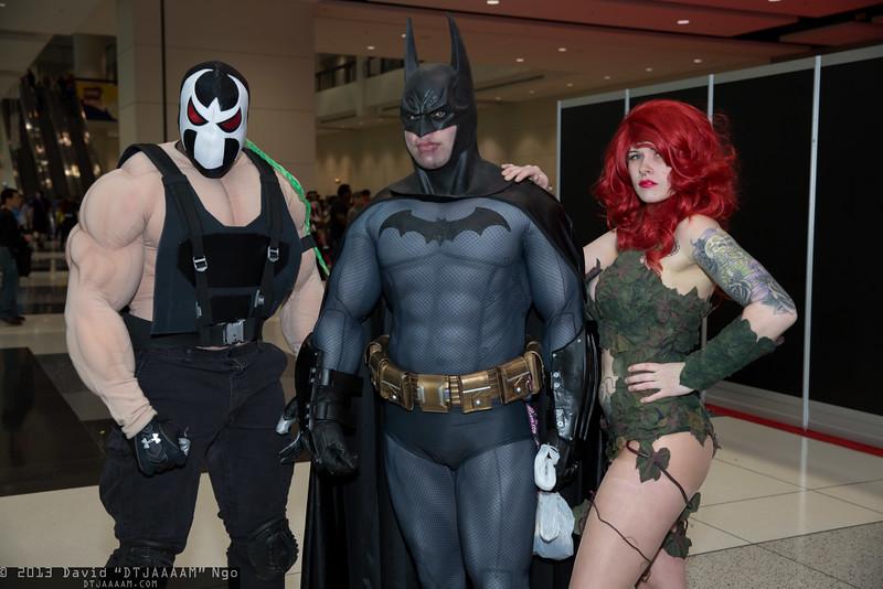Bane, Batman, and Poison Ivy