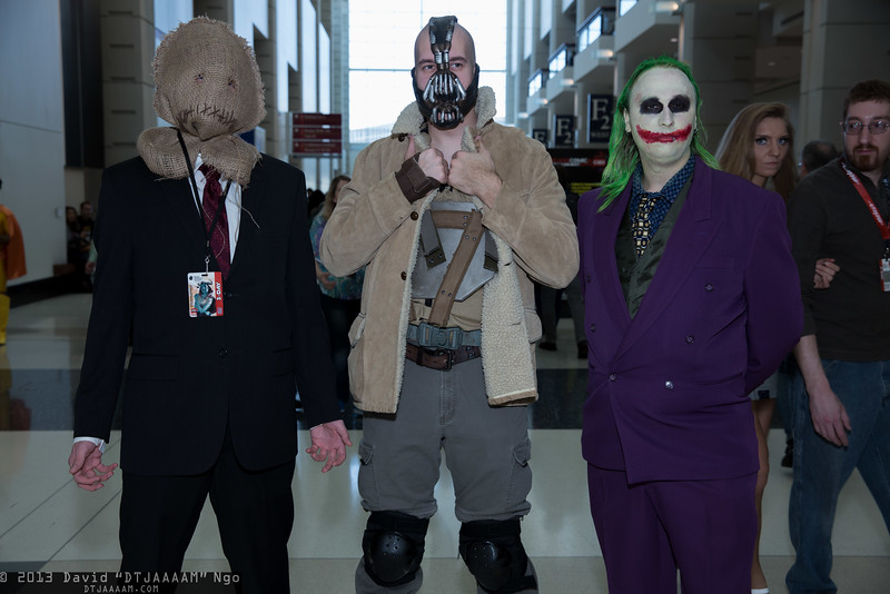Scarecrow, Bane, and Joker