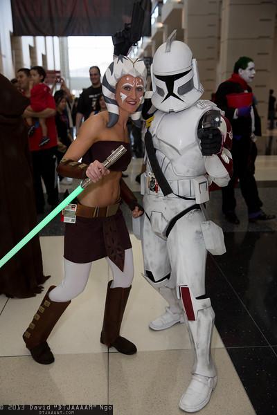 Ahsoka Tano and Clone Trooper