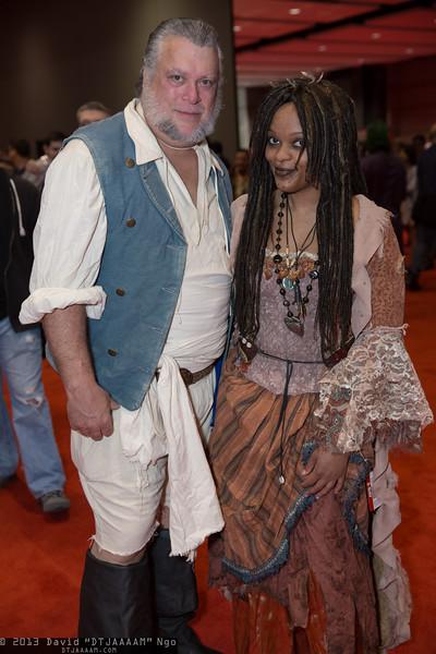 Joshamee Gibbs and Tia Dalma