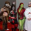 Scarecrow, Harley Quinn, Poison Ivy, and Professor Hugo Strange