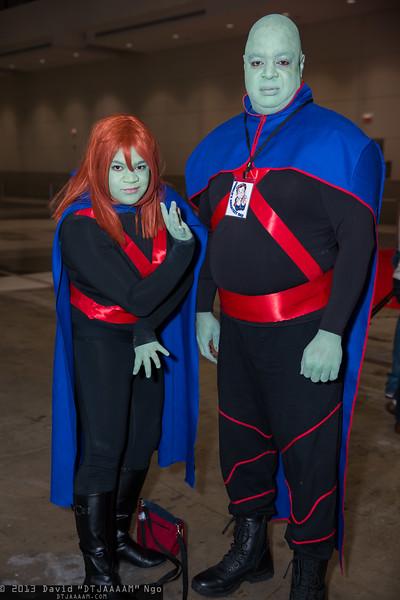 Miss Martian and Martian Manhunter