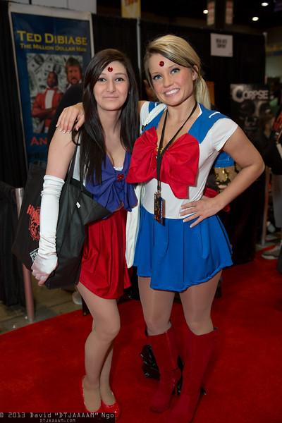 Sailor Mars and Sailor Moon