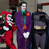 Harley Quinn, Joker, and Batman