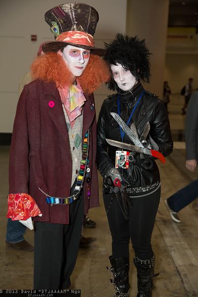 Mad Hatter and Edward Scissorhands