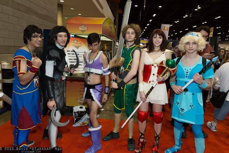 Zaboo, Bladezz, Tinkerballa, Vork, Codex, and Clara