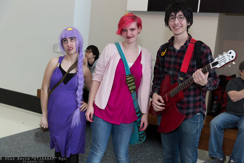 Lumpy Space Princess, Princess Bubblegum, and Marshall Lee