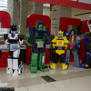 Arcee, Jazz, Devastator, Bumblebee, Starscream, and Shrapnel