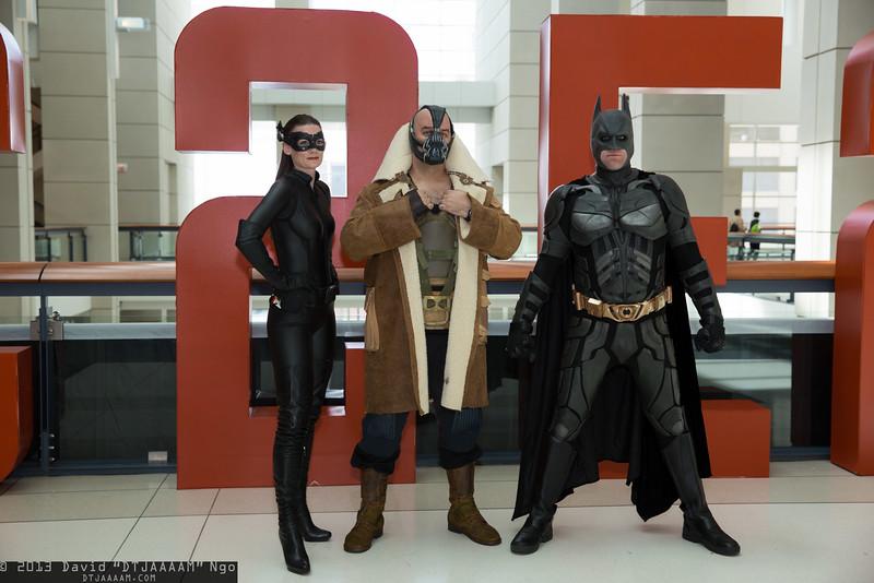 Catwoman, Bane, and Batman