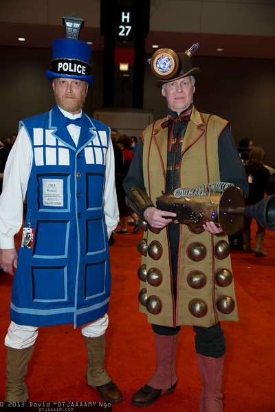 TARDIS and Dalek