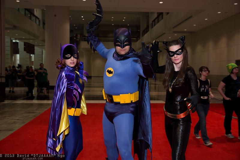 Batgirl, Batman, and Catwoman