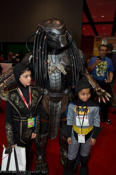 Scorpion, Predator, and Batman