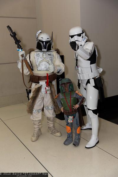 Mandalorian, Boba Fett, and Stormtrooper