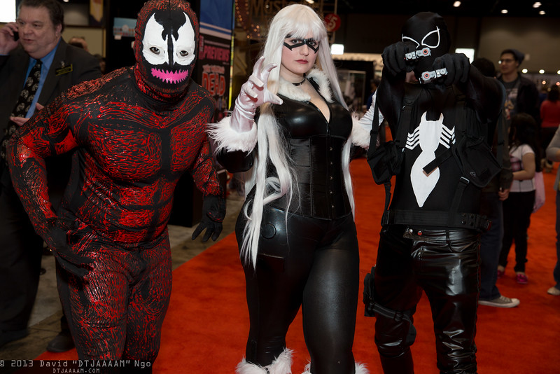 Carnage, Black Cat, and Venom