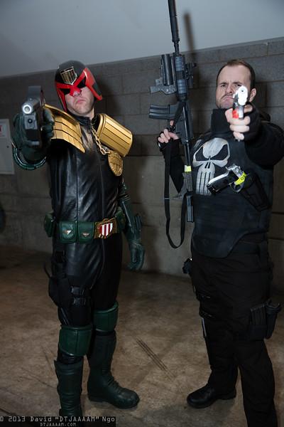 Judge Dredd and Punisher