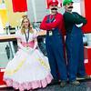 Princess Peach, Mario, and Luigi