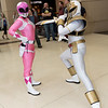Pink Ranger and White Ranger
