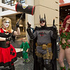 Harley Quinn, Batman, and Poison Ivy