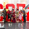 Barret Wallace, Vincent Valentine, Tifa Lockhart, Red XIII, Yuffie Kisaragi, Aeris Gainsborough, and Cloud Strife