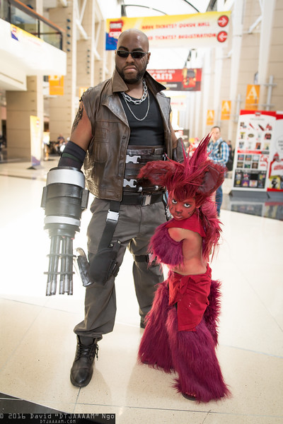 Barret Wallace and Red XIII