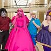 Marshall Lee, Princess Bubblegum, Finn, and Lumpy Space Princess