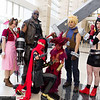 Aeris Gainsborough, Barret Wallace, Vincent Valentine, Red XIII, Cloud Strife, and Tifa Lockhart