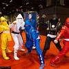 Pink Ninja Ranger, Yellow Ninja Ranger, White Ninja Ranger, Blue Ninja Ranger, Zordon, Black Ninja Ranger, and Red Ninja Ranger