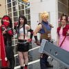 Vincent Valentine, Tifa Lockhart, Cloud Strife, and Aeris Gainsborough