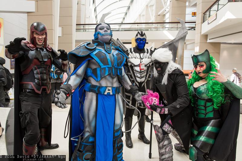 Magneto, Apocalypse, Archangel, Gambit, and Polaris