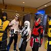 Scorpion, Johnny Cage, Smoke, Sektor, and Cyrax