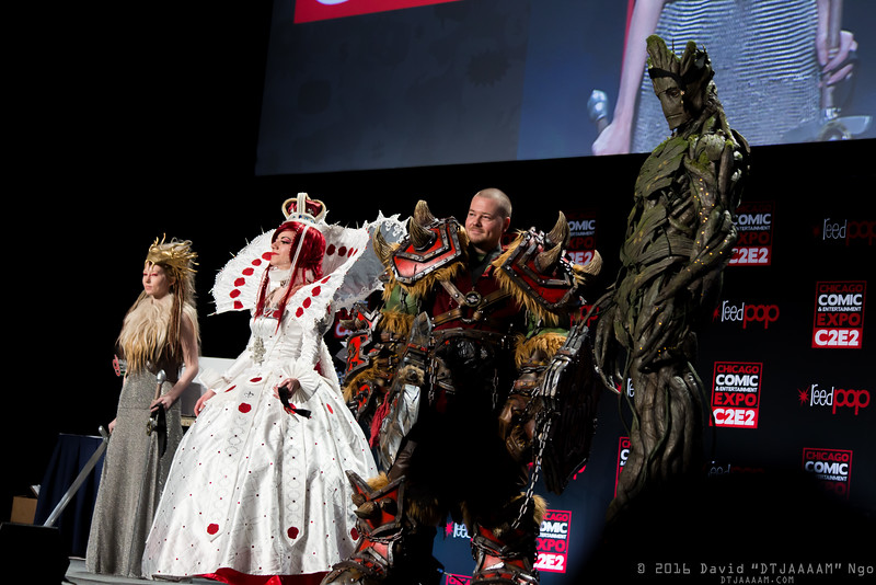 White Witch, Esther Blanchett, Orc, and Groot