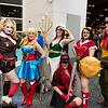 Harley Quinn, Supergirl, Mera, Batwoman, Wonder Woman, and Hawkgirl