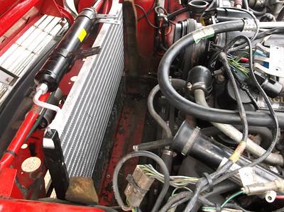 Coolant radiator removed