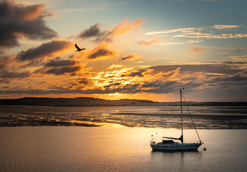Sunset at Low Tide in Morro Bay