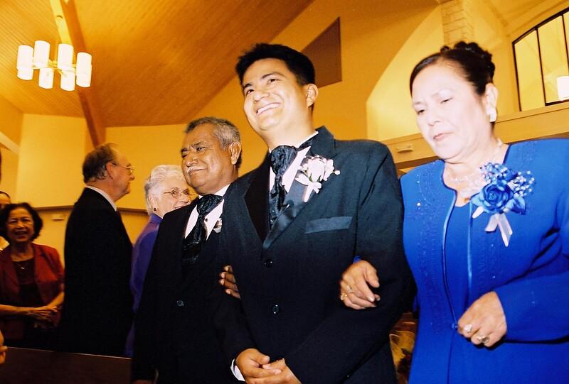 Walking the groom down the aisle